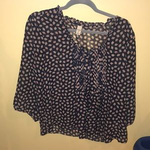 Old navy blue long sleeve blouse